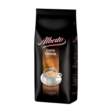КОФЕ НАТУРАЛЬНЫЙ ЖАРЕНЫЙ В ЗЕРНАХ ALBERTO CAFFE CREMA